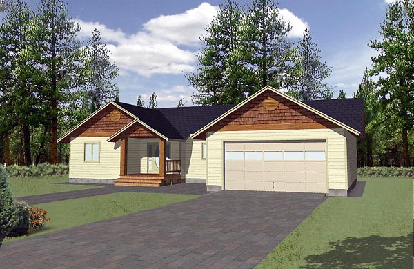 Traditional House Plan 86806 with 3 Beds, 2 Baths, 2 Car Garage Elevation