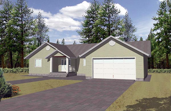 Traditional House Plan 86806 with 3 Beds, 2 Baths, 2 Car Garage Picture 1