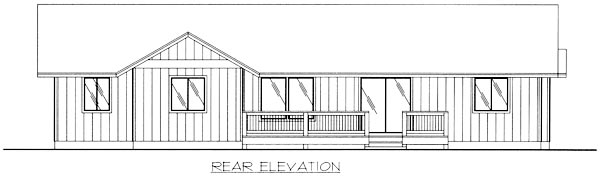 Traditional House Plan 86806 Rear Elevation