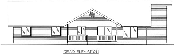 Traditional House Plan 86807 Rear Elevation