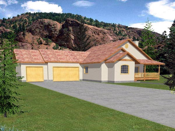 Contemporary House Plan 86808 with 3 Beds, 2 Baths, 2 Car Garage Elevation
