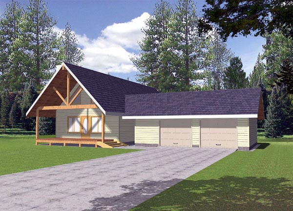 Contemporary House Plan 86810 with 2 Beds, 2 Baths, 2 Car Garage Front Elevation