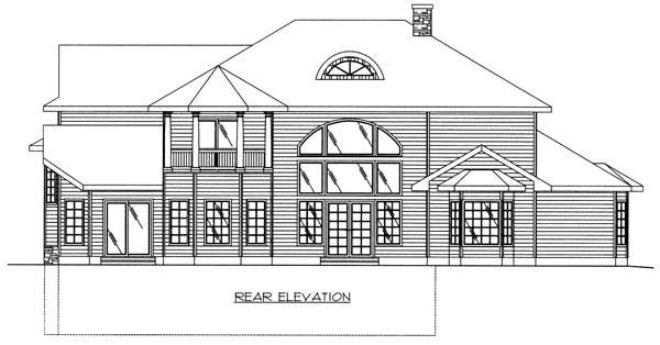 Victorian House Plan 86811 Rear Elevation