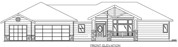 Traditional House Plan 86815 Rear Elevation