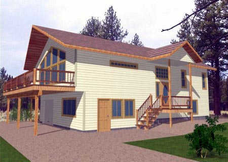 Traditional House Plan 86821 with 3 Beds, 3 Baths, 1 Car Garage Elevation