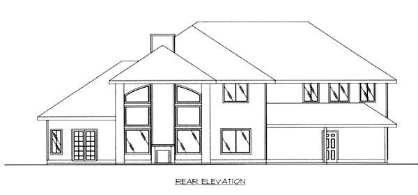 Traditional House Plan 86822 Rear Elevation