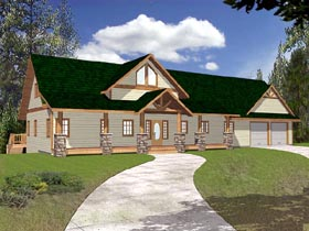 Traditional House Plan 86823 with 3 Beds, 3 Baths, 2 Car Garage Elevation