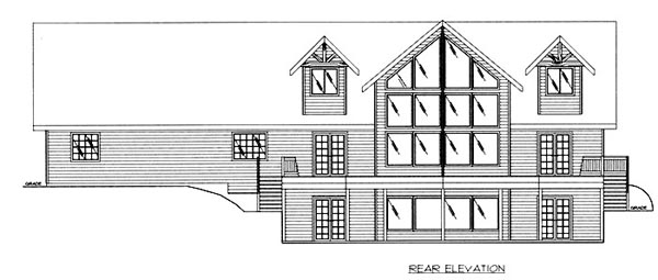Traditional House Plan 86823 Rear Elevation