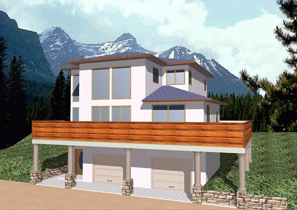 Contemporary House Plan 86825 Elevation