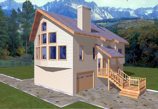 Contemporary House Plan 86826 Elevation