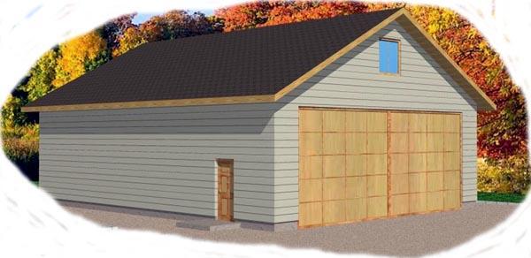 Garage Plan 86827 Elevation