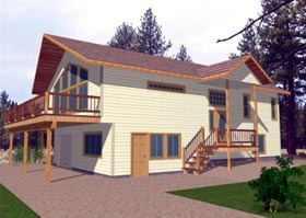 Contemporary House Plan 86828 Elevation