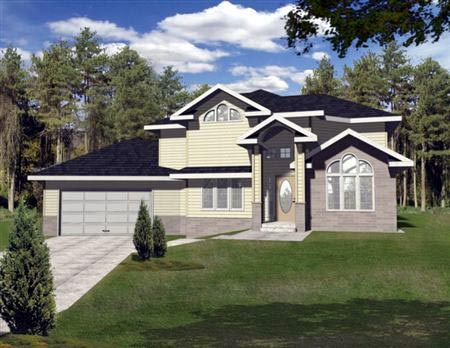 European House Plan 86838 with 3 Beds, 3 Baths, 2 Car Garage Elevation