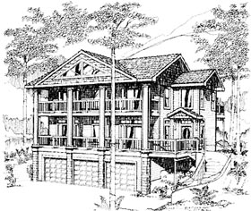 Contemporary House Plan 86839 with 3 Beds, 4 Baths, 3 Car Garage Elevation