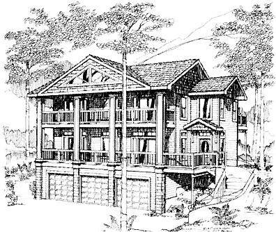 Contemporary House Plan 86839 Elevation