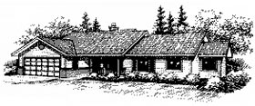 House Plan 86840 | Ranch Style Plan with 2769 Sq Ft, 4 Bedrooms, 3 Bathrooms, 2 Car Garage Elevation