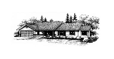 Ranch House Plan 86840 Elevation
