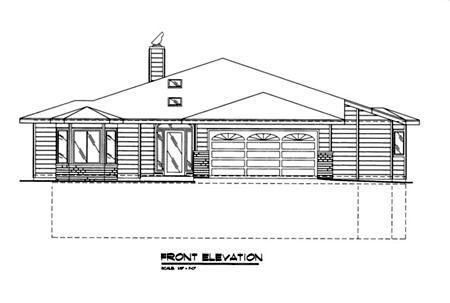 Traditional House Plan 86841 Rear Elevation