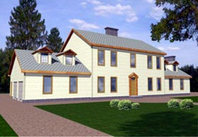 Colonial House Plan 86842 Elevation