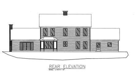 Colonial House Plan 86842 Rear Elevation