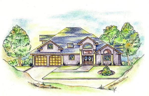 European House Plan 86843 Elevation
