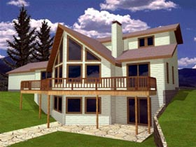 Contemporary House Plan 86845 Elevation