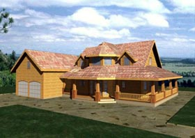 House Plan 86846 | Contemporary Style Plan with 1933 Sq Ft, 3 Bedrooms, 3 Bathrooms, 2 Car Garage Elevation