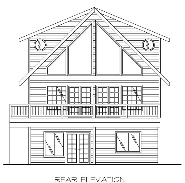 Contemporary House Plan 86850 Rear Elevation