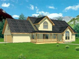 House Plan 86854 | Country Style Plan with 2981 Sq Ft, 3 Bedrooms, 3 Bathrooms, 3 Car Garage Elevation