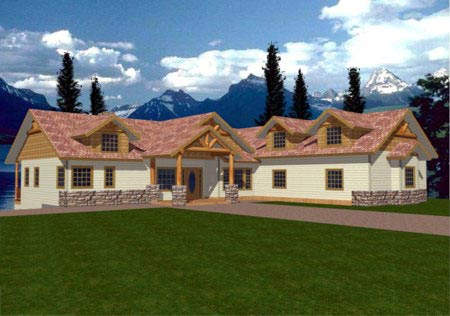 Bungalow House Plan 86859 Elevation