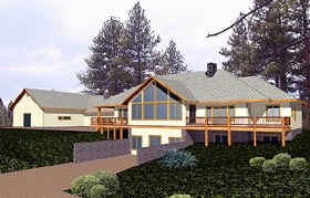 Contemporary House Plan 86863 Elevation