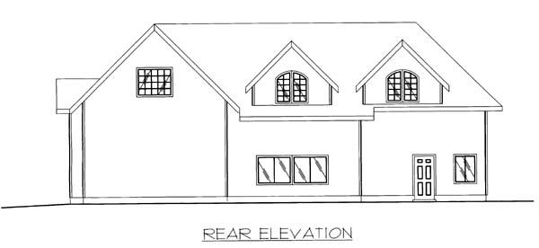 Garage Plan 86869 Rear Elevation