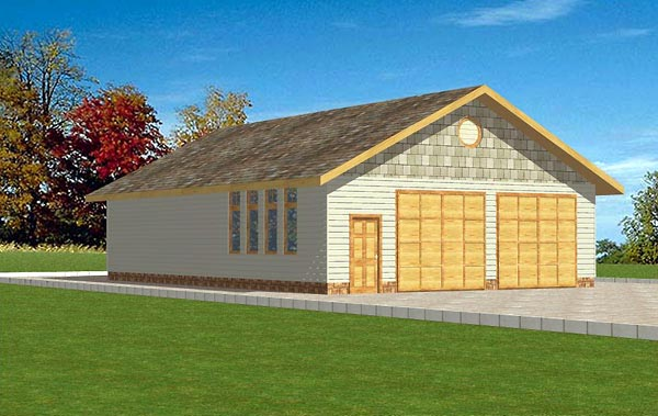 6 Car Garage Plan 86871 Elevation