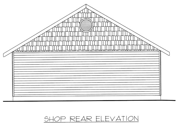 Garage Plan 86871 Rear Elevation