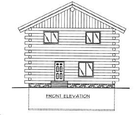 Log House Plan 86873 Elevation