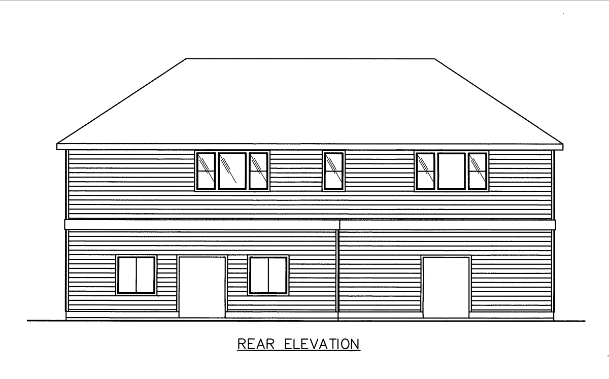 Garage Plan 86883 Rear Elevation