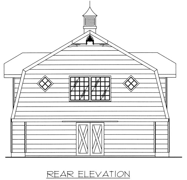 Garage Plan 86887 Rear Elevation