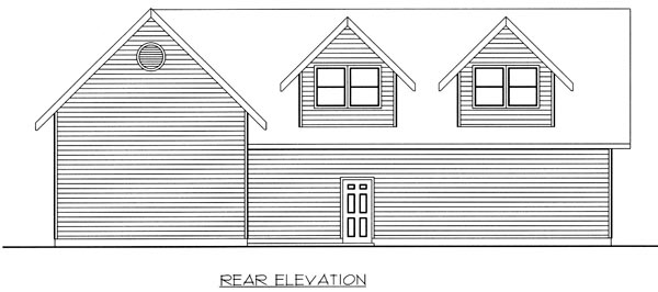 Garage Plan 86888 Rear Elevation