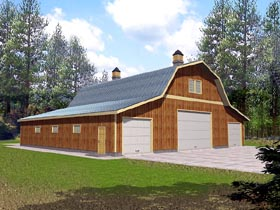 garage plan 86889 - 6 Car Garage