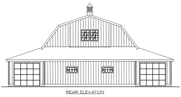 Garage Plan 86889 Rear Elevation