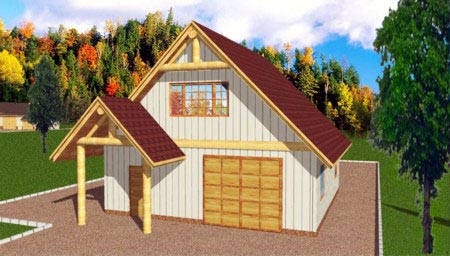 3 Car Garage Plan 86897 Elevation