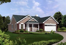 Country Ranch Traditional House Plan 86900 Elevation