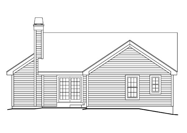 Country Ranch Traditional House Plan 86900 Rear Elevation
