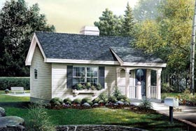 House Plan 86901 | Country Style Plan with 576 Sq Ft, 1 Bedrooms, 1 Bathrooms Elevation
