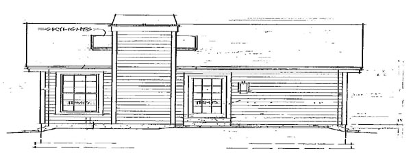 House Plan 86901 | Country Style Plan with 576 Sq Ft, 1 Bedrooms, 1 Bathrooms Rear Elevation