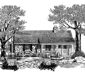 Country House Plan 86904 with 1 Beds, 1 Baths Elevation