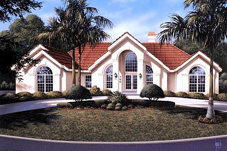 House Plan 86906 with 3 Beds, 2 Baths, 3 Car Garage Elevation