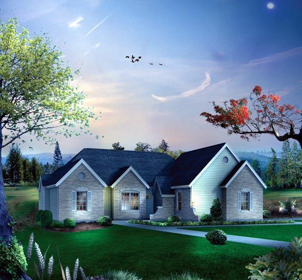 House Plan 86910 Elevation