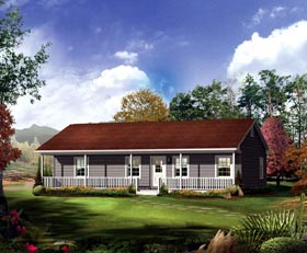 Ranch House Plan 86918 Elevation