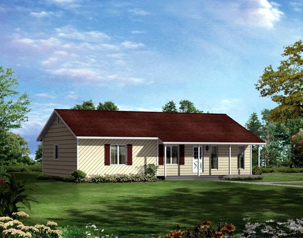 Ranch House Plan 86919 Elevation